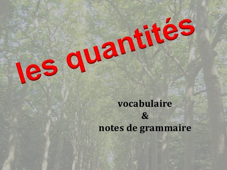 vocabulaire         &notes de grammaire