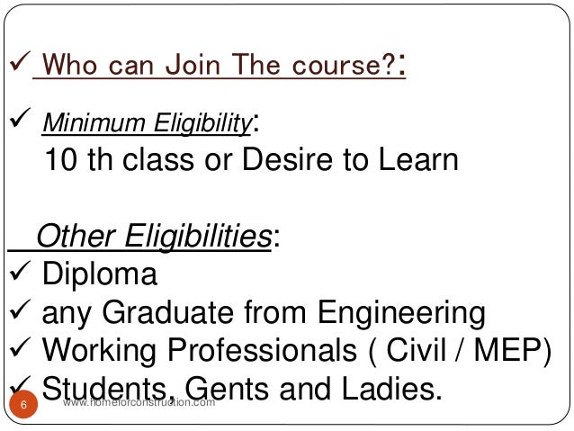  Who can Join The course?:  Minimum Eligibility: 10 th class or Desire to Learn Other Eligibilities:  Diploma  any Gra...