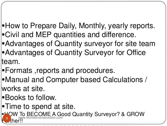 How to Prepare Daily, Monthly, yearly reports. Civil and MEP quantities and difference. Advantages of Quantity surveyor...