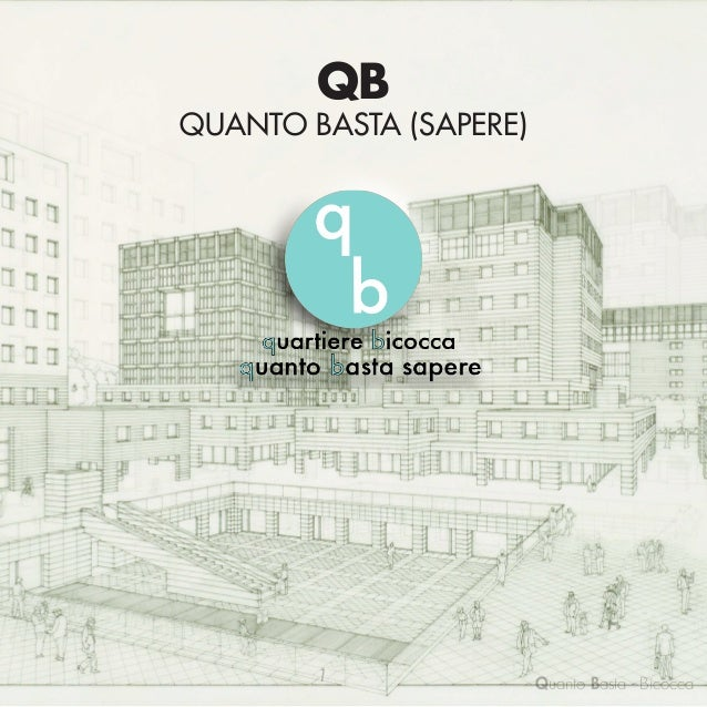 QB  QUANTO BASTA (SAPERE)  Quartiere Bicocca CARRADORI CARLO VIERI COLOMBO ANDREA  RAINERI IRENE   1  722990 720386 715...