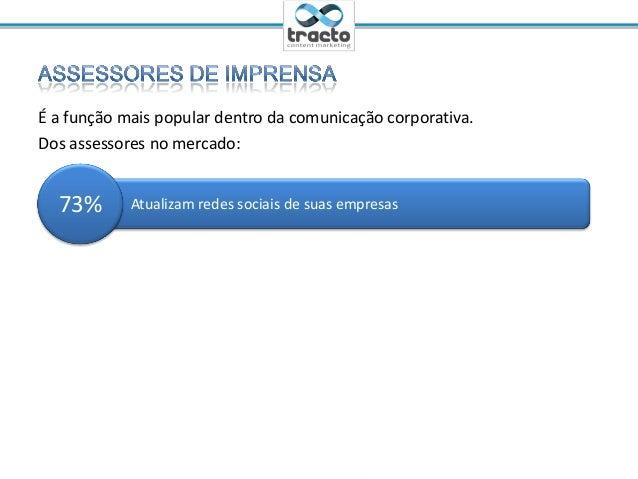 Ministrante: Cassio Politi@tractoBRÉ a função mais popular dentro da comunicação corporativa.Dos assessores no mercado:Atu...