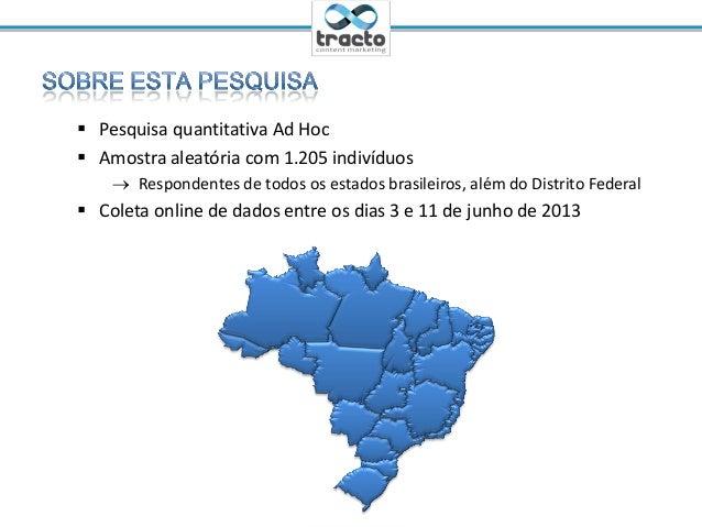 Ministrante: Cassio Politi@tractoBR Pesquisa quantitativa Ad Hoc Amostra aleatória com 1.205 indivíduos Respondentes de...