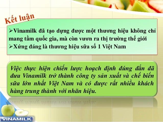 www.trungtamtinhoc.edu.vn Vinamilk đã tạo dựng được một thương hiệu không chỉ mang tầm quốc gia, mà còn vươn ra thị trườn...
