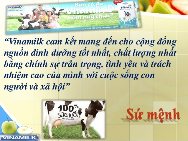 """www.trungtamtinhoc.edu.vn """"Vinamilk cam kết mang đến cho cộng đồng nguồn dinh dưỡng tốt nhất, chất lượng nhất bằng chính s..."""