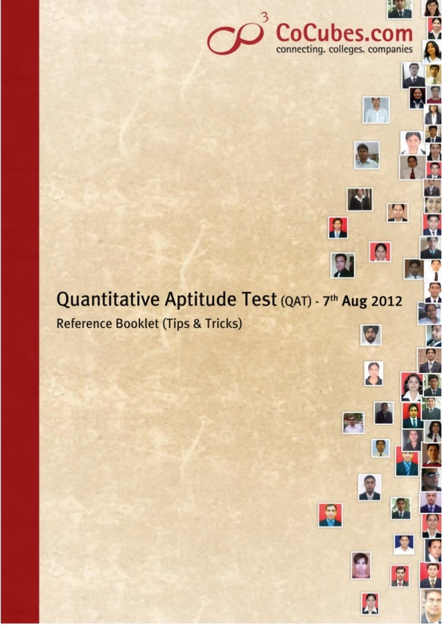 1 Tips & tricks for Quantitative Aptitude Quantitative Aptitude is a critical section in aptitude tests and one which all ...
