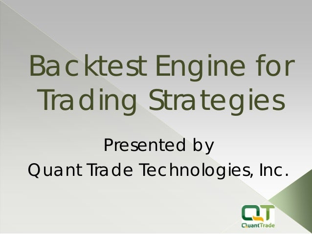 Backtesting trading strategies book