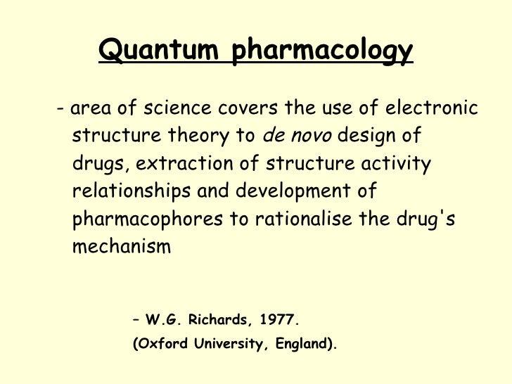 Quantum pharmacology. Basics Slide 2