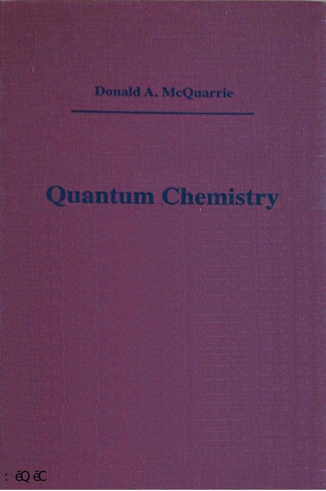 quantum chemistry donald a mcquarrie pdf
