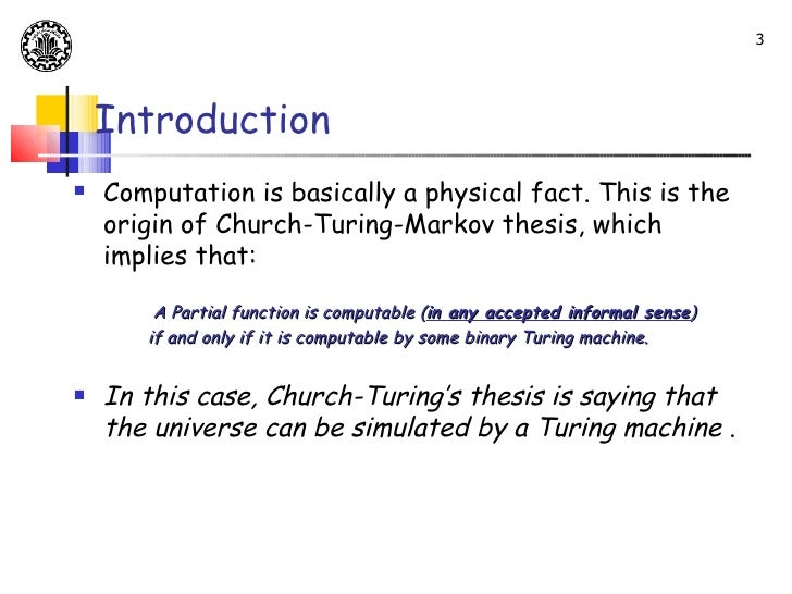 Classical physics and the church turing thesis