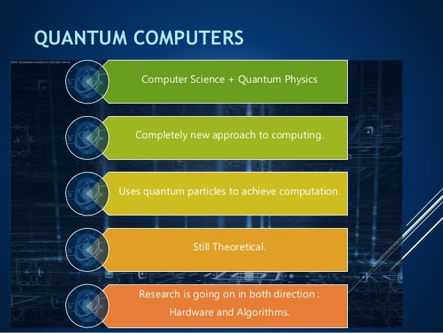 an essay on quantum computing and computers Look at quantum computing information technology essay  but in case of the quantum computers information is encoded into a series of quantum mechanical states like .