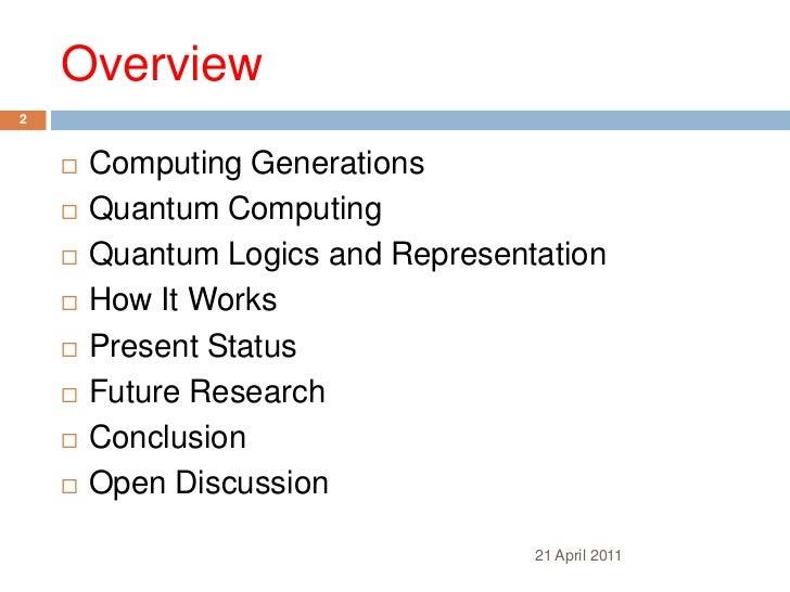 Quantum computing - Introduction Slide 2