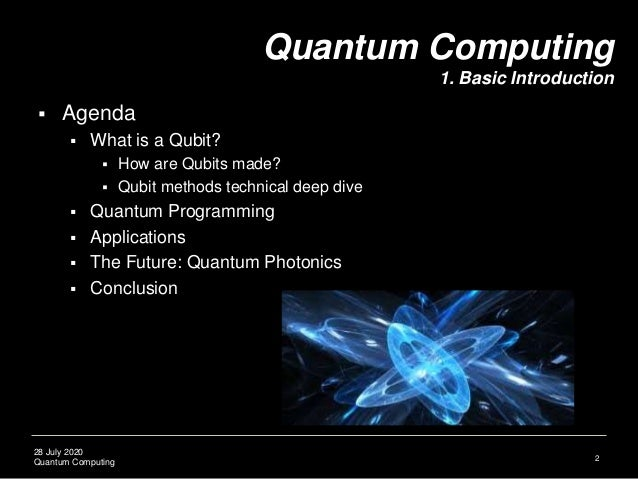 Quantum Computing Lecture 1: Basic Concepts Slide 3