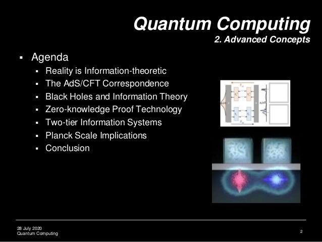 Quantum Computing Lecture 2: Advanced Concepts Slide 3