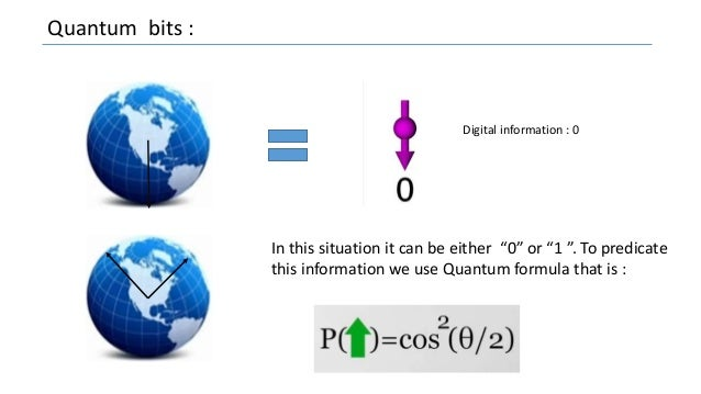 """Quantum bits : Digital information : 0 In this situation it can be either """"0"""" or """"1 """". To predicate this information we us..."""
