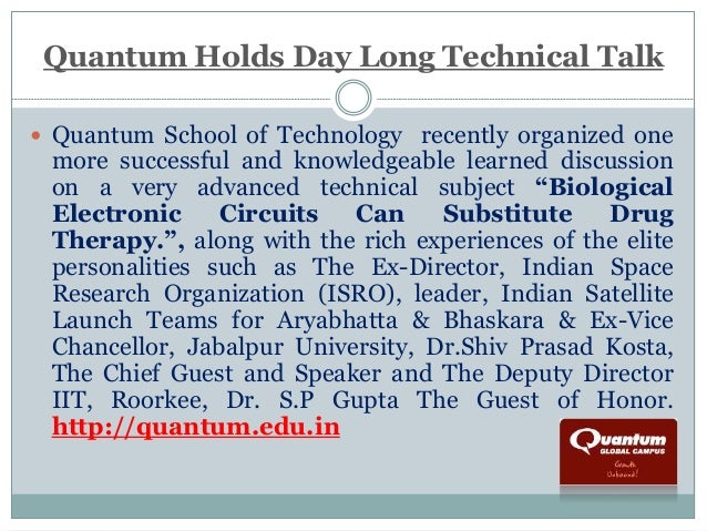 Quantum Holds Day Long Technical Talk   Quantum School of Technology recently organized one  more successful and knowledg...