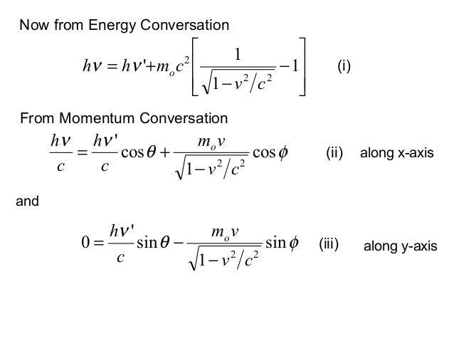 Now from Energy Conversationφθννcos1cos22cvvmchch o−+=−−+= 111222cvcmhh oνν (i)From Momentum Conversation(ii) alon...