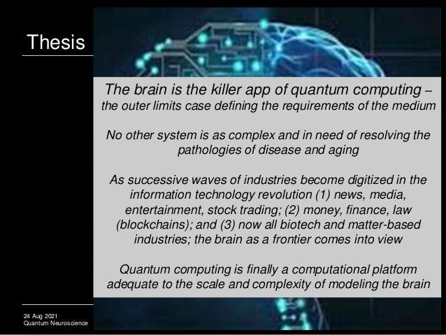 Quantum Neuroscience: CRISPR for Alzheimer's, Connectomes & Quantum BCIs Slide 3