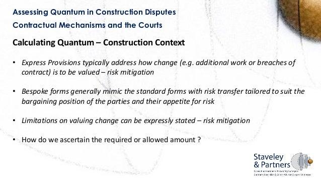 Scsi Rics Presentation On Construction Quantum Part 1