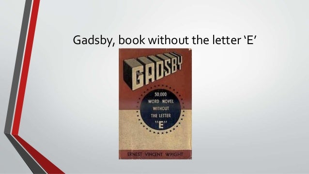 book written without the letter e