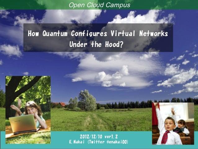 Quantum Under the Hood                         Open Cloud Campus           How Quantum Configures Virtual Networks        ...