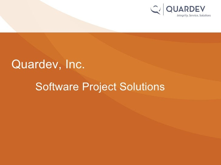 Software Project Solutions Quardev, Inc.