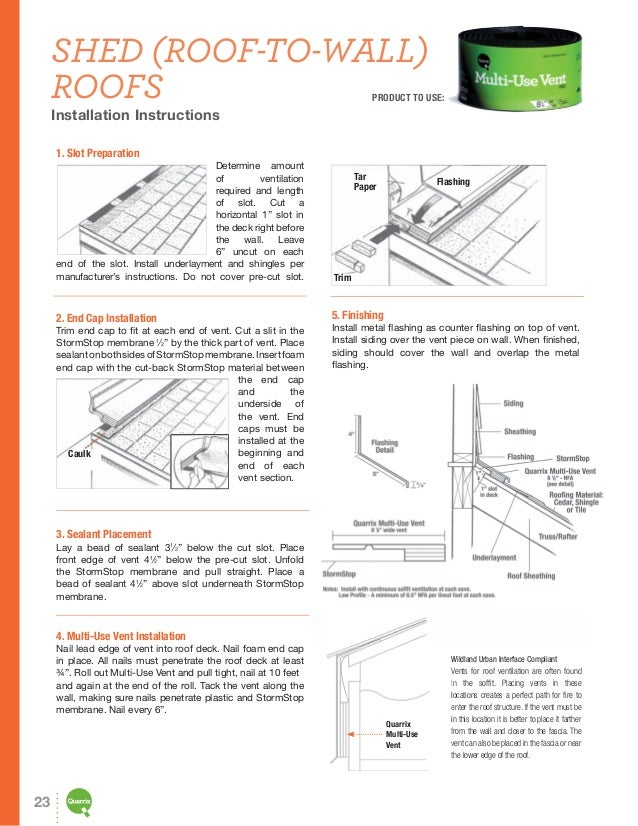 Quarrix Roofing Ventilation Product Guide