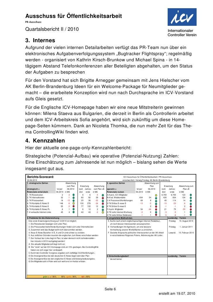 Quartals bericht 2010-ii icv pr-ausschuss