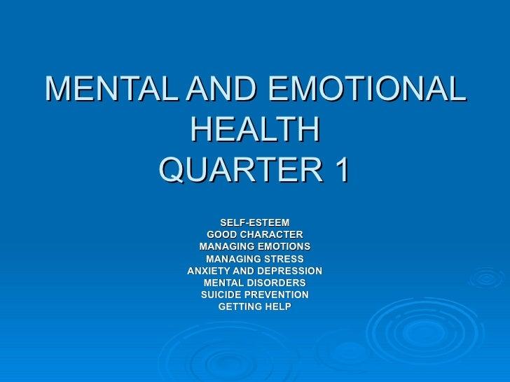 mental and emotional development