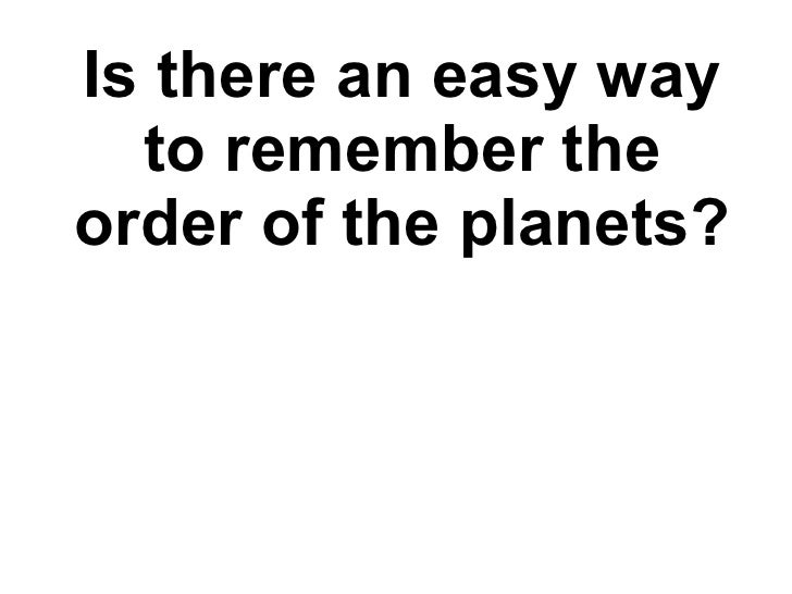 ways to memorize the planets - photo #37
