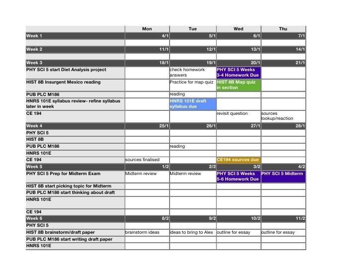 Achieve Finals Success Now Quarter Calendar Template