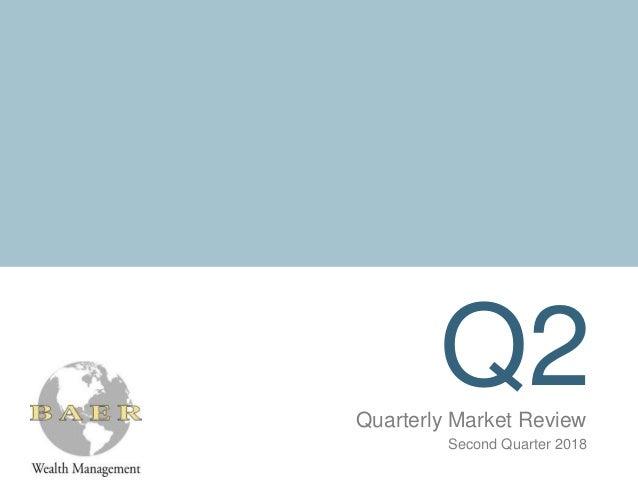 Q2Quarterly Market Review Second Quarter 2018