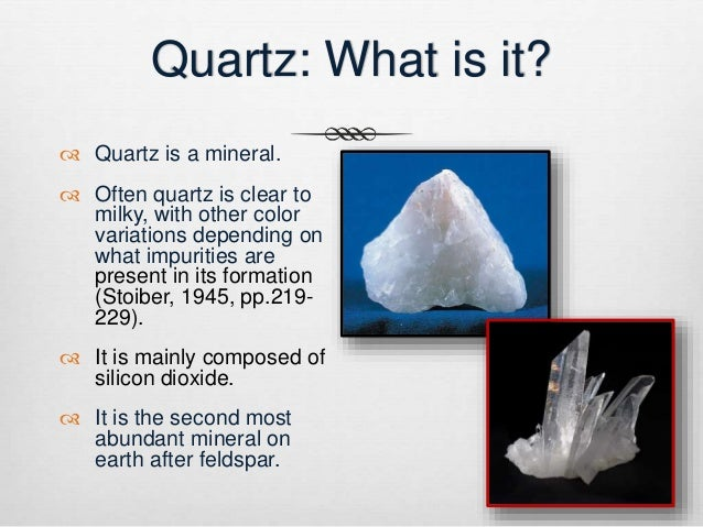 Quartz: What is it?