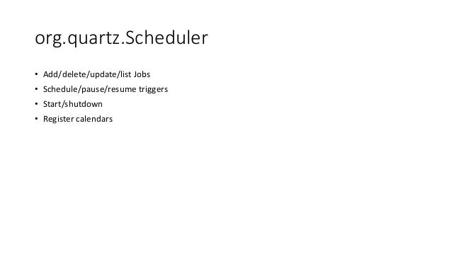 Quartz Scheduler