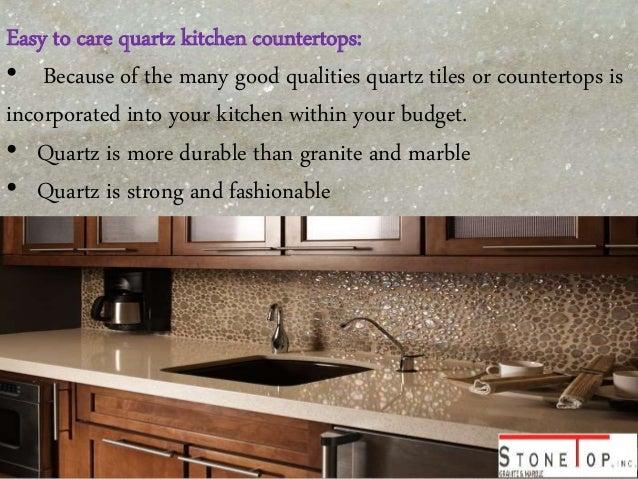 3. Easy To Care Quartz Kitchen Countertops: ...  Quartz Kitchen Countertops