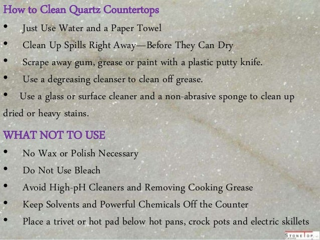 How To Clean Quartz Countertops ...