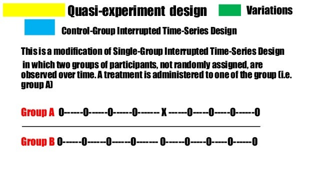 quasi-experimental research design