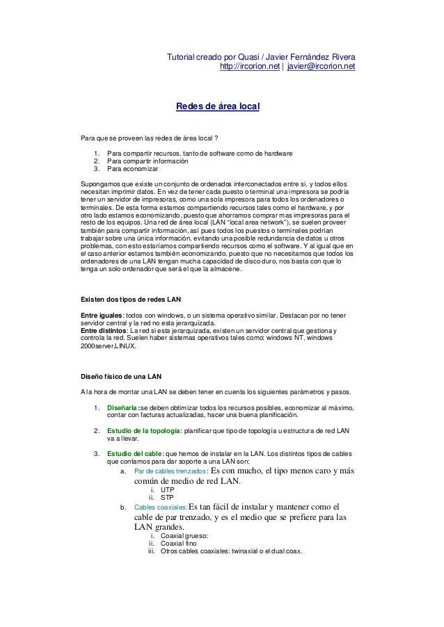 Tutorial creado por Quasi / Javier Fernández Rivera                                           http://ircorion.net | javier...
