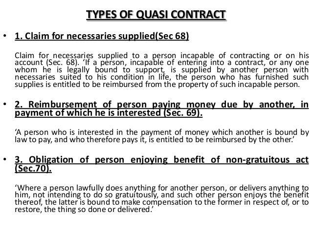 quasi contract ppt