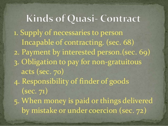 quasi contract meaning in hindi