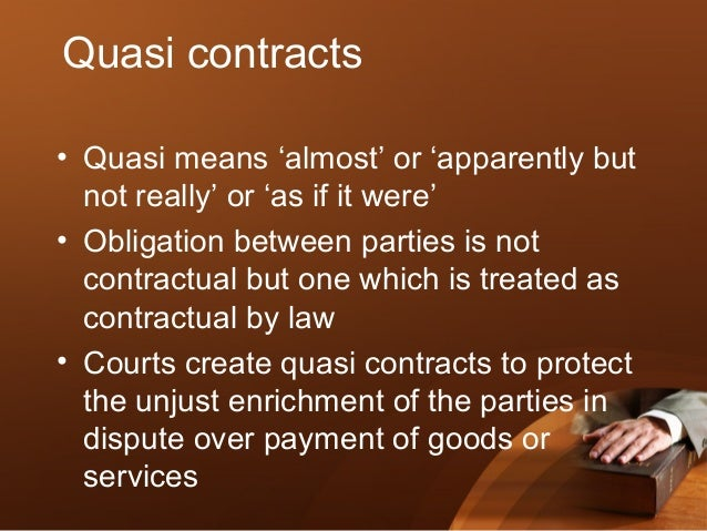 quasi contract meaning