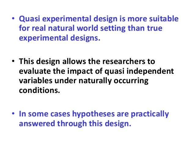 Quasi Experimental Research Design