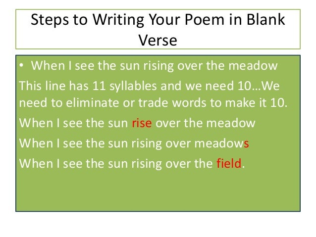 How to write a poem in iambic pentameter meaning
