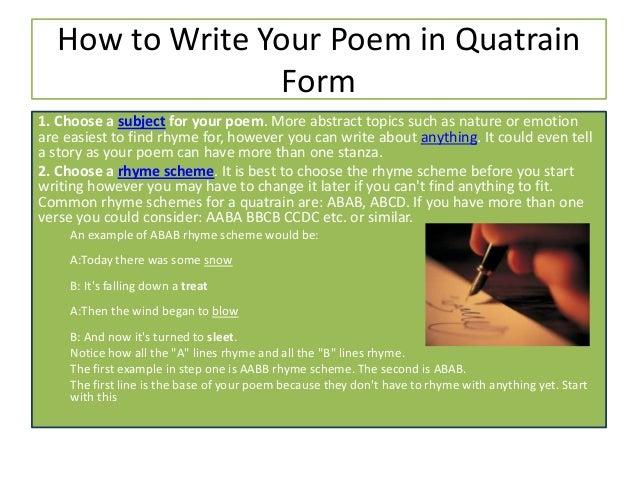 quatrain poems examples - photo #15