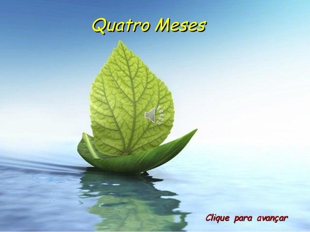 Quatro MesesQuatro Meses Clique para avançarClique para avançar