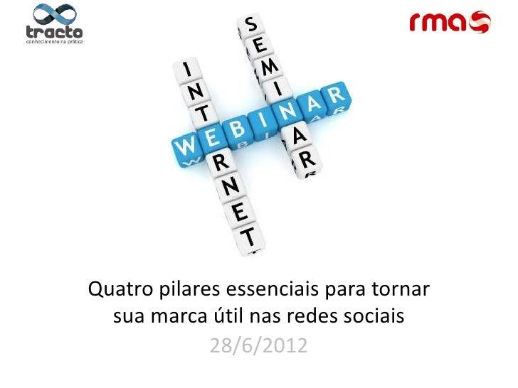 Quatro pilares essenciais para tornar  sua marca útil nas redes sociais             28/6/2012