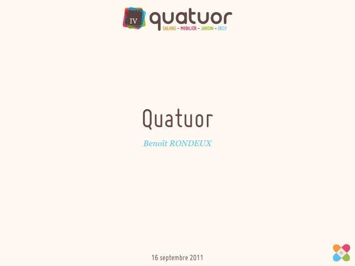 QuatuorBenoît RONDEUX 16 septembre 2011