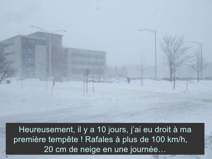 Heureusement, il y a 10 jours, j'ai eu droit à ma première tempête ! Rafales à plus de 100 km/h,  20 cm de neige en une jo...