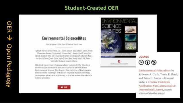 Students can create ancillary materials for OER textbooks