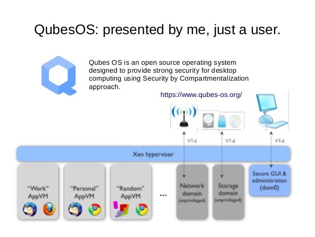 QubesOS: presented by me, just a user. Qubes OS is an open source operating system designed to provide strong security for...
