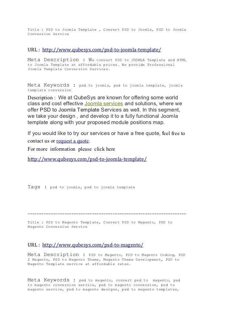 Title : PSD to Joomla Template , Convert PSD to Joomla, PSD to JoomlaConversion ServiceURL : http://www.qubesys.com/psd-to...